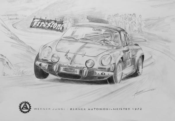 1972 Bernische Automobilmeisterschaft - Sieger Werner Jungi, Alpine A110