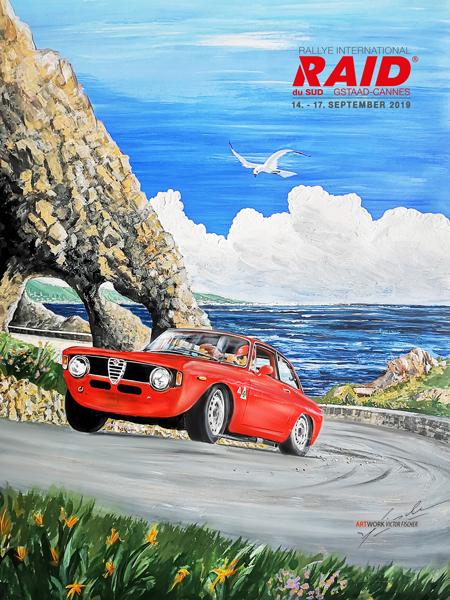 2019 RAID du Sud  - Alfa Romeo GTA - Poster