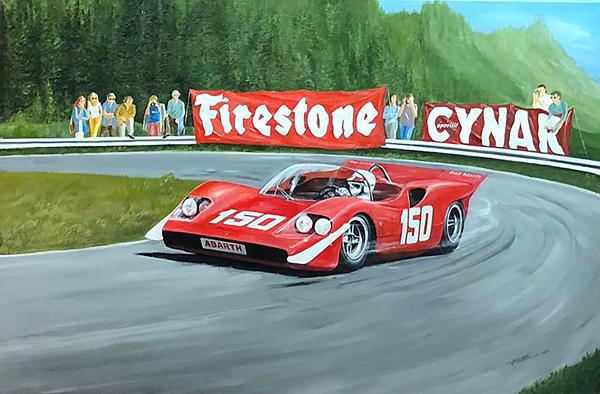 1969 Ollon-Villars Hillclimb - Arturo Merzario  Abarth 2000 SE010