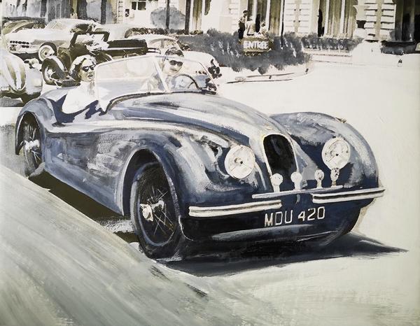 1954 Cannes: Clark Gable, Suzanne Dadolle & Jaguar XK 120