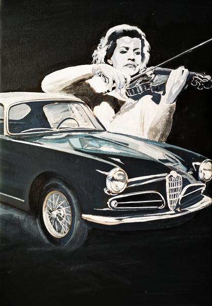 Ann-Sophie Mutter & Alfa Romeo Giulietta Sprint 1954